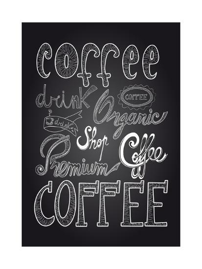 Coffee Chalkboard Illustration-cienpies-Premium Giclee Print