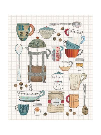Coffee Chart II v2 Gingham-Courtney Prahl-Art Print