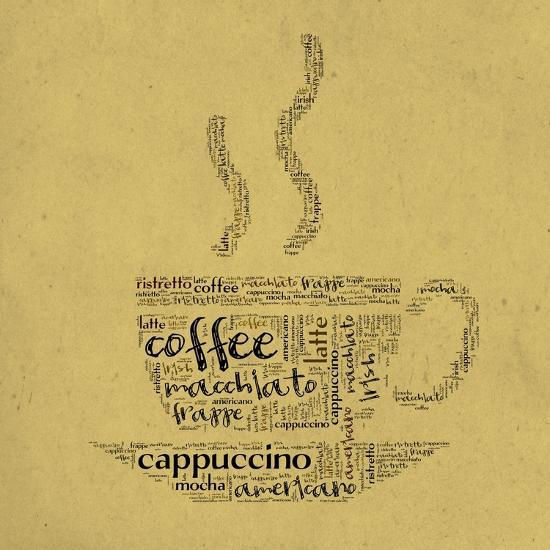 Coffee Cup Of Words-alanuster-Art Print