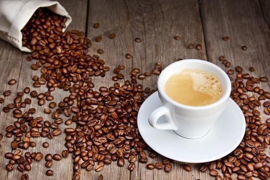 Coffee Cup With Beans-Valengilda-Art Print