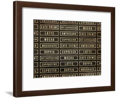 Coffee Drink Wall-OnRei-Framed Art Print