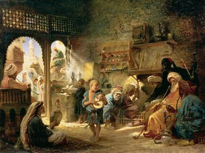Coffee House in Cairo, 1870s-Konstantin Egorovich Makovsky-Giclee Print
