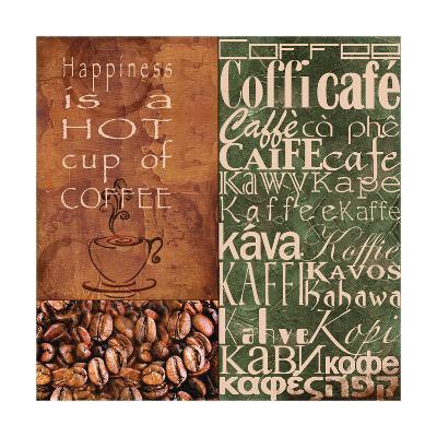 Coffee in Any Language-Lisa Wolk-Art Print