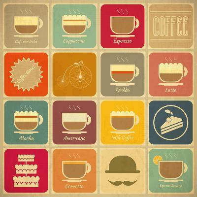 Coffee Labels-elfivetrov-Art Print