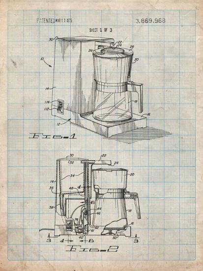 Coffee Maker Patent-Cole Borders-Art Print