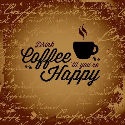 Coffee Makes You Happy-arenacreative-Art Print