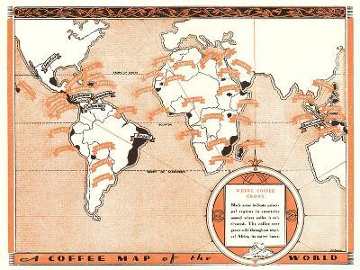 Coffee Map of the World--Art Print