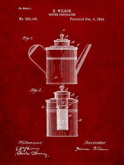 Coffee Percolator Patent-Cole Borders-Art Print