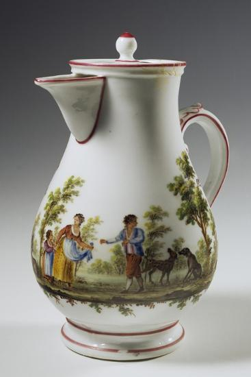 Coffee Pot Decorated with Rural Scenes Taken from Painter Maggiotta, 1780-1790--Giclee Print