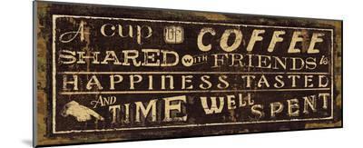 Coffee Quote III-Jess Aiken-Mounted Print