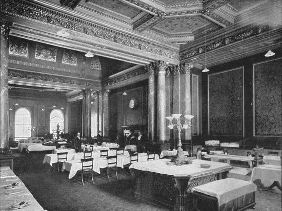 Coffee room of the Carlton Club, London, c1900 (1901)-Unknown-Photographic Print
