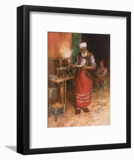 Coffee Sold in Istanbul-Warwick Goble-Framed Giclee Print