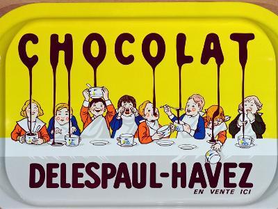 Coffee Tray Advertising 'Delespaul-Havez' Chocolate--Giclee Print