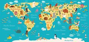 Animals World Map by coffeee_in
