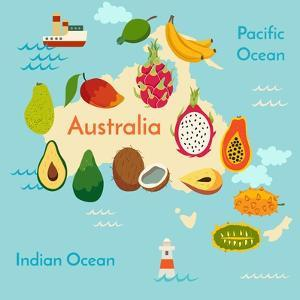Fruit World Map Australia by coffeee_in