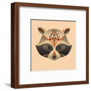 The Abstract Head of Raccoon Vector Illustration by coffeee_in