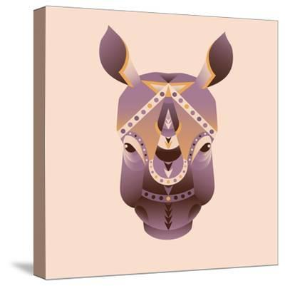 The Abstract Head of Rhino Vector Illustration