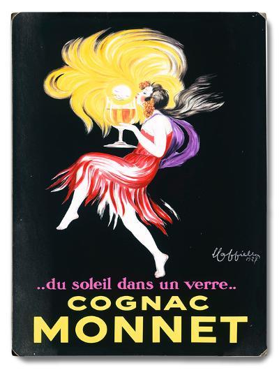 Cognac Monnet--Wood Sign