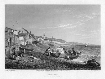 Cogoleto, the Birth Place of Columbus, Italy, 1828-E Finden-Giclee Print