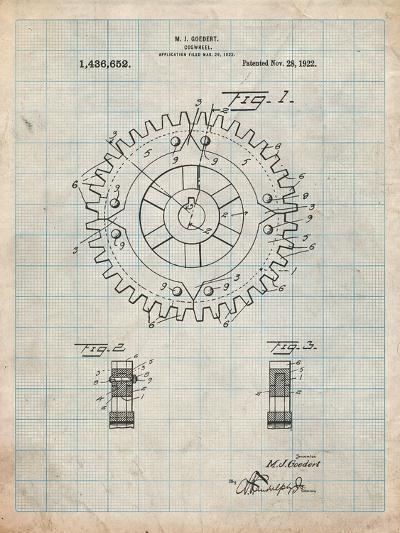 Cogwheel 1922 Patent-Cole Borders-Art Print