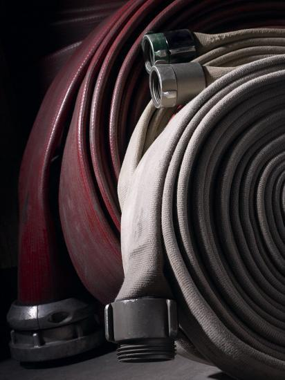 Coiled Fire Hoses--Photographic Print