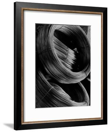 Coiled Rod Ready to Draw into Wire at Aluminum Company of America Plant-Margaret Bourke-White-Framed Premium Photographic Print