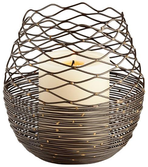 Coiled Silk Candleholder - Large--Home Accessories