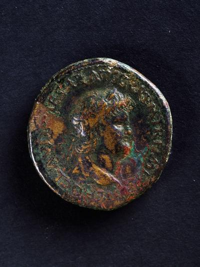 Coin Bearing Image of Emperor Nero, Roman Coins Ad--Giclee Print