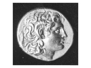 Coin Bearing the Head of Alexander the Great with the Horns of the Egyptian God Amun