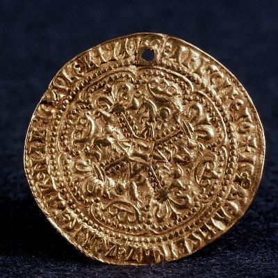 Coin (Korabelni) of Tsar Ivan III (Averse: Blossom Cros), 1471-1490--Photographic Print