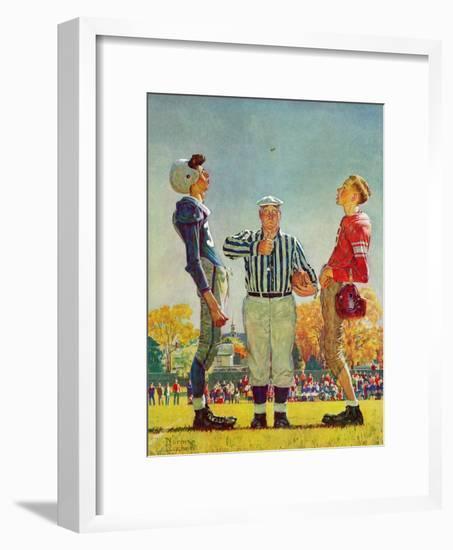 """Coin Toss"", October 21,1950-Norman Rockwell-Framed Premium Giclee Print"
