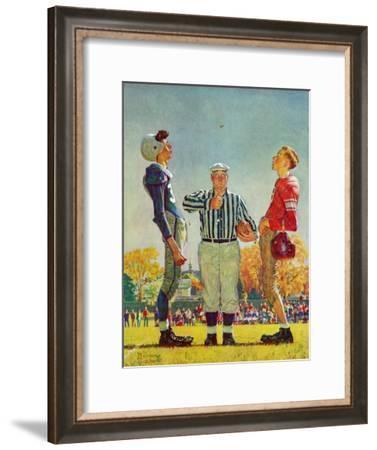 """Coin Toss"", October 21,1950-Norman Rockwell-Framed Giclee Print"