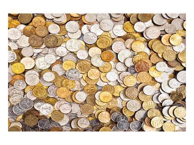 Coins Dollar Money Treasure--Art Print