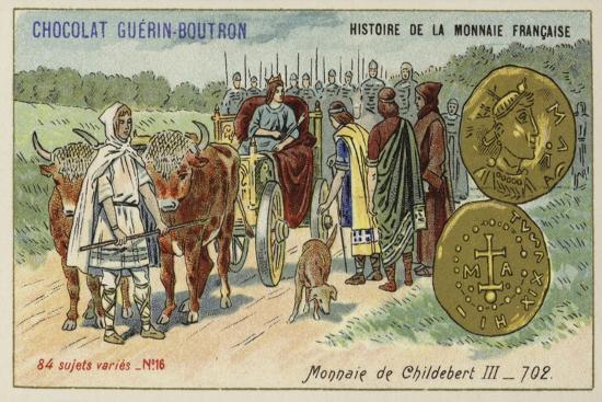 Coins of Childebert Iii, 702--Giclee Print