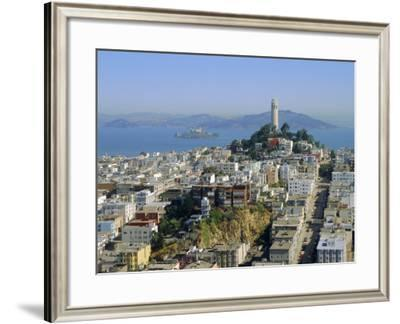 Coit Tower on Telegraph Hill, San Francisco, California, USA-Fraser Hall-Framed Photographic Print