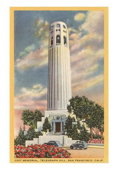 Coit Tower, Telegraph Hill, San Francisco, California--Art Print