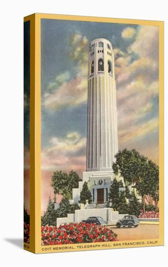 Coit Tower, Telegraph Hill, San Francisco, California--Stretched Canvas Print