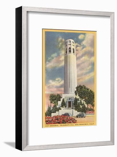 Coit Tower, Telegraph Hill, San Francisco, California--Framed Art Print