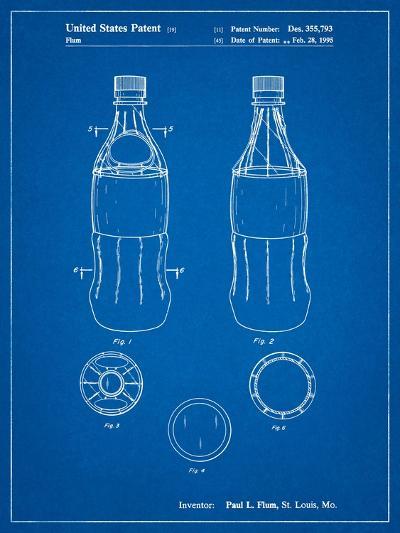 Coke Bottle Display Cooler Patent-Cole Borders-Art Print