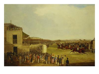 Col. Peels's 'The Bey of Algiers', Nat Flatman Up, Winning the 1840 Chester Cup-William Tasker-Giclee Print
