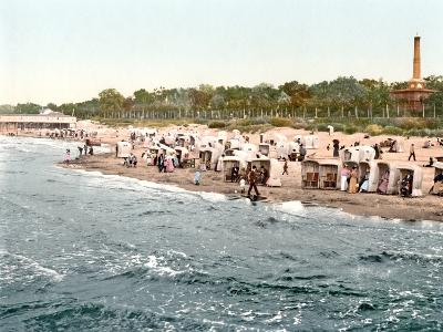 Colberg Beach on the Baltic Sea, 1890-1900--Photographic Print