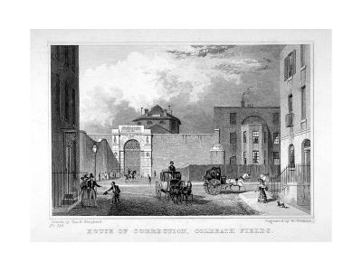 Cold Bath Fields Prison, Finsbury, London, 1830-W Watkins-Giclee Print