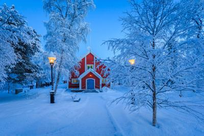Cold Winter with Temperatures Going to -47 Celsius. Lapland, Sweden
