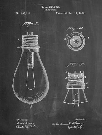 Edison Lamp Base Patent Print