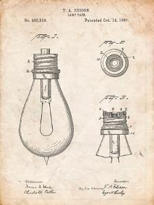 Edison Lamp Base Patent Print by Cole Borders