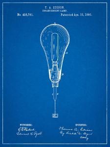 Edison Light Bulb 1890 Patent by Cole Borders