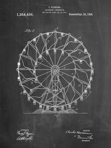 Ferris Wheel 1920 Patent by Cole Borders