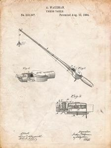Fishing Rod and Reel 1884 Patent by Cole Borders
