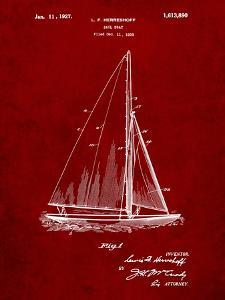 Herreshoff R 40' Gamecock Racing Sailboat Patent by Cole Borders