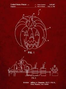 PP1003-Burgundy Pumpkin Patent Poster by Cole Borders